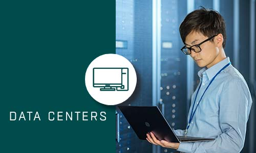 Data Centers with Green box and Icon